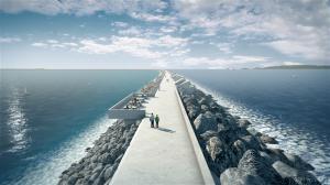 Swansea Bay tidal lagoon wall