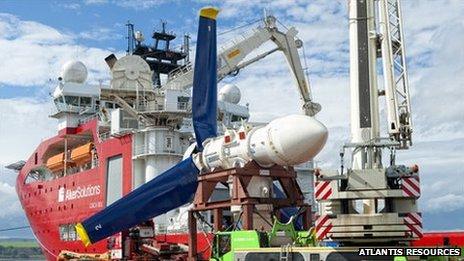 MeyGen tidal turbine