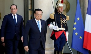 Li Keqiang in Paris