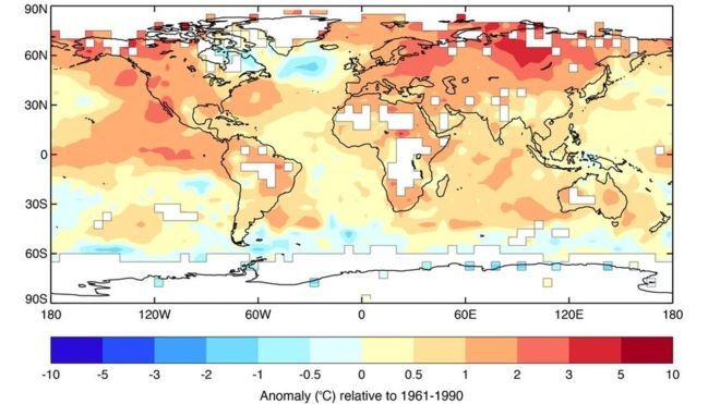 2015, the warmest year on record