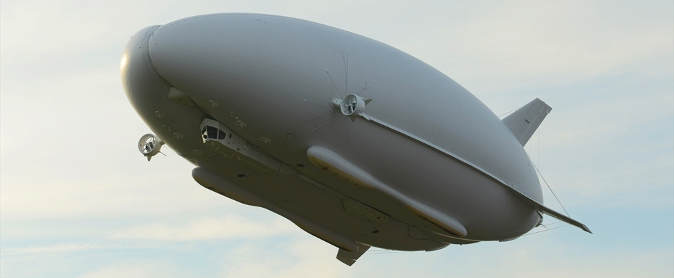 Airlander 10 on maiden voyage over Bedfordshire