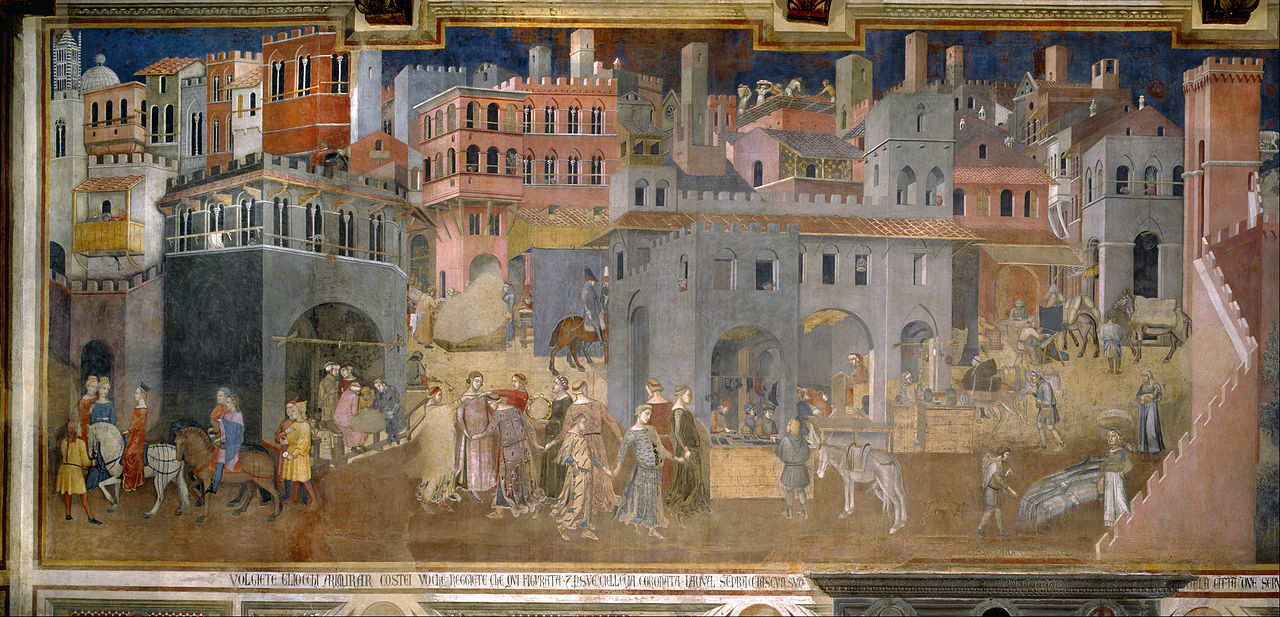 'The Allegory of Good and Bad Government' by Ambrogio Lorenzetti