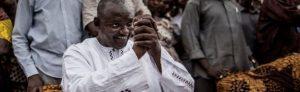 Adama Barrow celebrates victory in The Gambia
