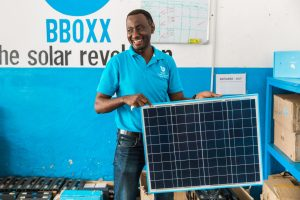 BBOXX Staff in rural Rwanda (Photo Credit: Power Africa)